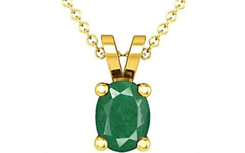Green Beryl Gold Pendant (Design D2)