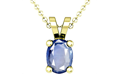 Blue Sapphire Panchdhatu Pendant (D2)