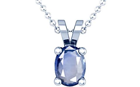 Blue Sapphire Silver Pendant (D2)