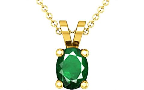 Emerald (Zambia) Gold Pendant (D2)