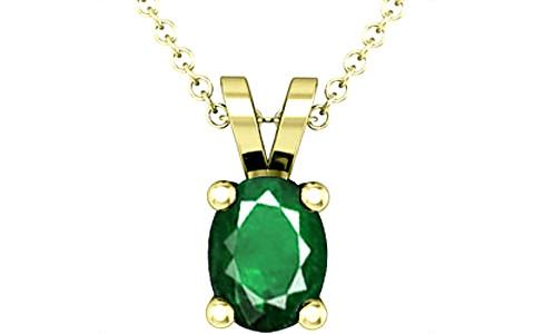 Emerald (Zambia) Panchdhatu Pendant (D2)