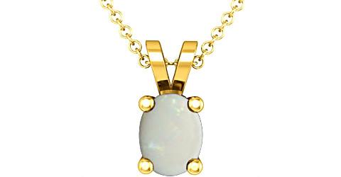 Fire Opal Gold Pendant (Design D2)