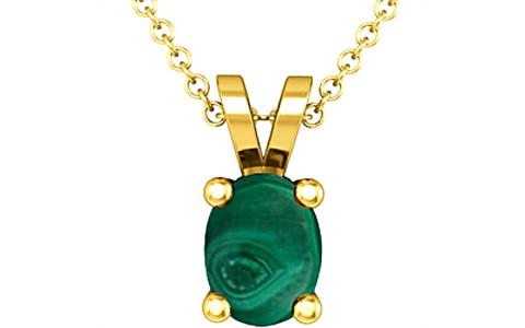 Malachite Gold Pendant (D2)