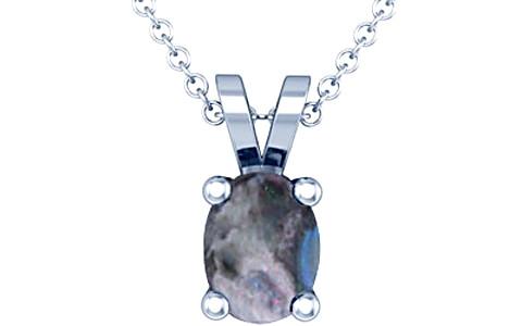 Black Opal Sterling Silver Pendant (D2)