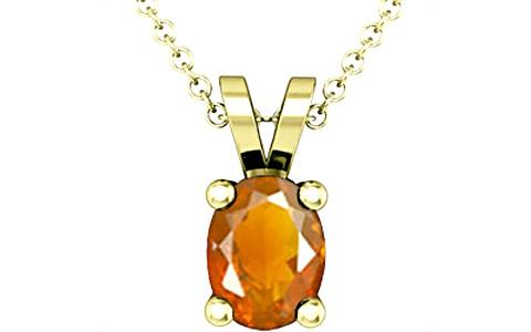 Fire Opal Panchdhatu Pendant (Design D2)
