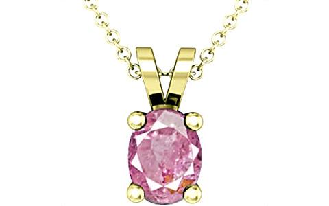 Pink Sapphire Panchdhatu Pendant (D2)
