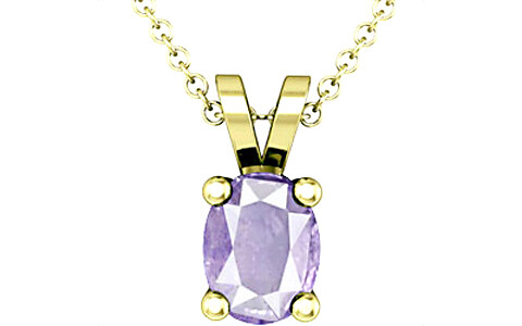 Purple Sapphire Panchdhatu Pendant (Design D2)