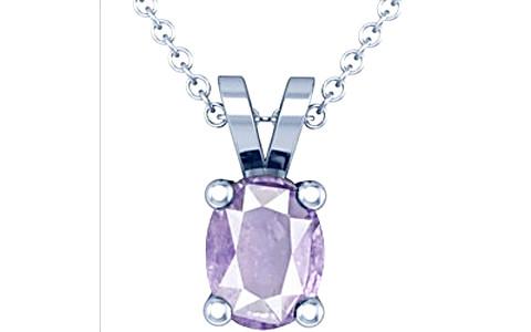 Purple Sapphire Sterling Silver Pendant (Design D2)