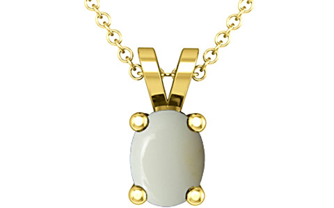 White Opal Gold Pendant (D2)