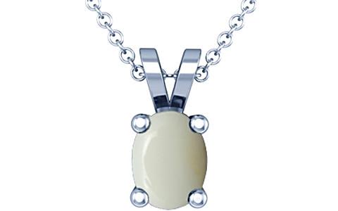 White Opal Silver Pendant (D2)