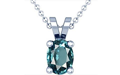 Blue Zircon Silver Pendant (D2)