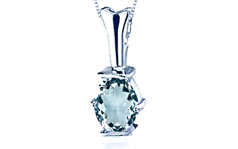 Aquamarine Silver Pendant (D3)