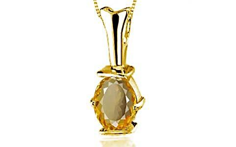 Citrine Gold Pendant (D3)