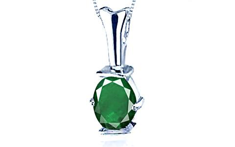 Emerald (Zambia) Silver Pendant (D3)