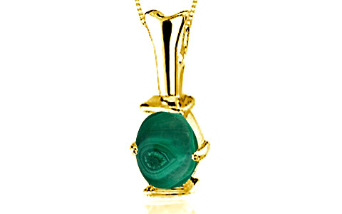 Malachite Gold Pendant (D3)