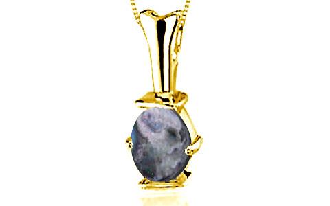 Black Opal Gold Pendant (D3)