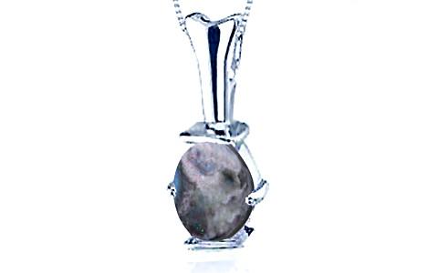 Black Opal Sterling Silver Pendant (D3)
