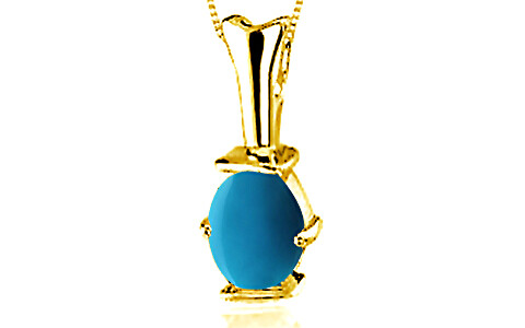 Turquoise Gold Pendant (D3)