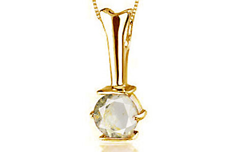 Yellow Topaz Gold Pendant (D3)