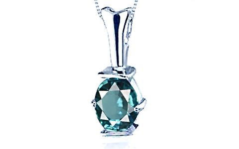 Blue Zircon Silver Pendant (D3)