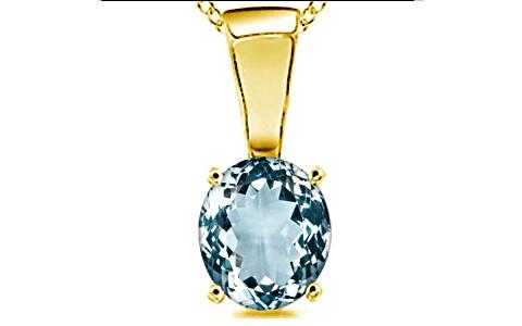 Aquamarine Gold Pendant (D4)