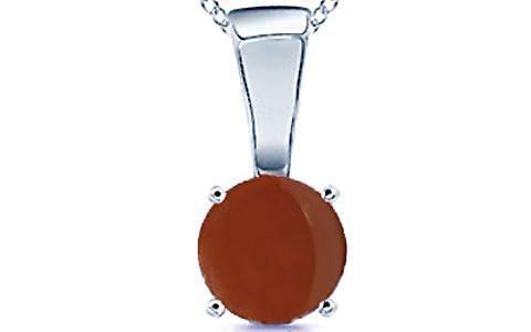 Carnelian Sterling Silver Pendant (Design D4)