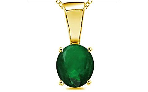 Emerald (Zambia) Gold Pendant (D4)