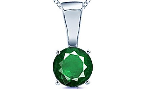 Emerald (Zambia) Silver Pendant (D4)