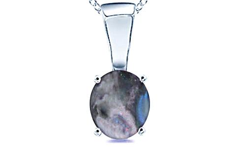Black Opal Sterling Silver Pendant (D4)