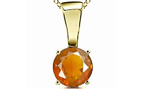 Fire Opal Panchdhatu Pendant (Design D4)