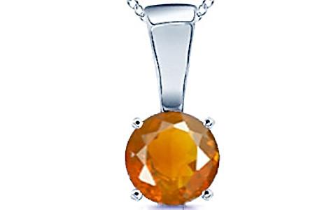Fire Opal Sterling Silver Pendant (Design D4)