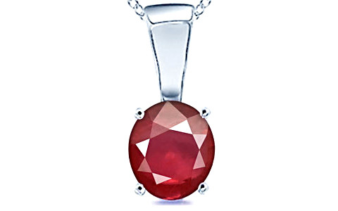 Ruby Silver Pendant (D4)