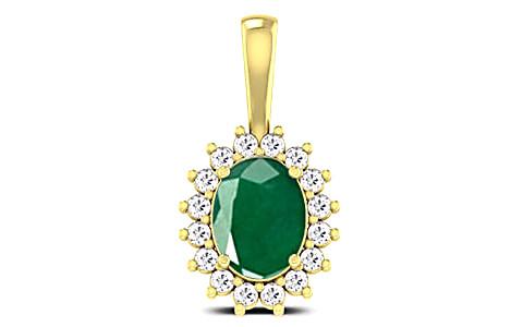 Emerald Panchdhatu Pendant (D4 SPARKLE)