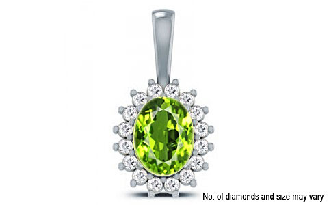 Peridot Sterling Silver Pendant (D4 SPARKLE)
