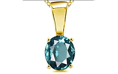 Blue Zircon Gold Pendant (D4)