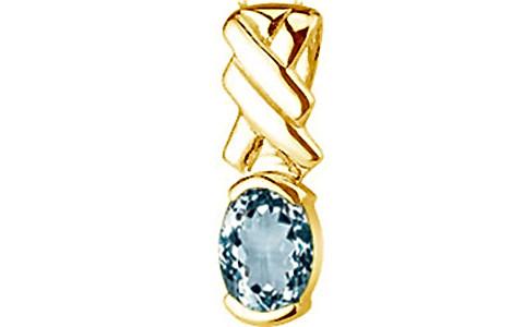 Aquamarine Gold Pendant (D5)