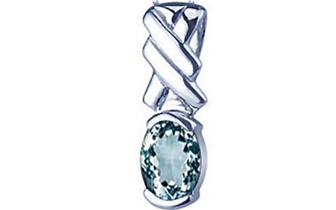 Aquamarine Silver Pendant (D5)