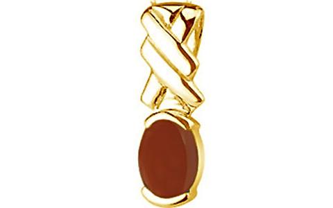 Carnelian Gold Pendant (Design D5)