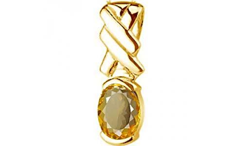 Citrine Gold Pendant (D5)