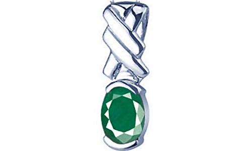 Emerald Silver Pendant (D5)