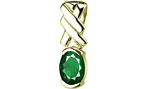 Emerald (Zambia) Panchdhatu Pendant (D5)