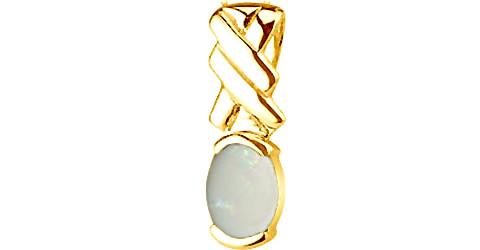 Fire Opal Gold Pendant (Design D5)