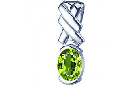 Peridot Silver Pendant (D5)