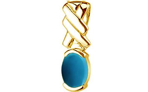 Turquoise Gold Pendant (D5)