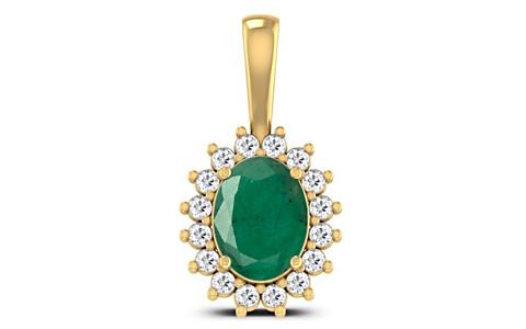 Emerald Gold Pendant (D4 SPARKLE)