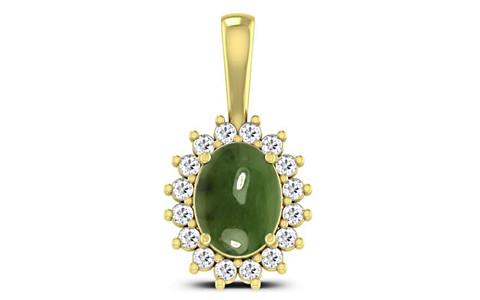 Nephrite Jade Panchdhatu Pendant (D4 SPARKLE)