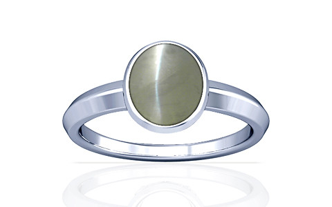 Chrysoberyl Cats Eye Silver Ring (A1)