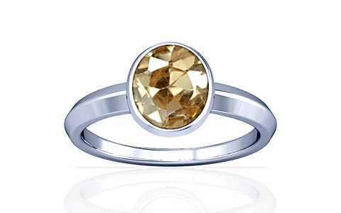 Champagne Cubic Zirconia Silver Ring (A1)