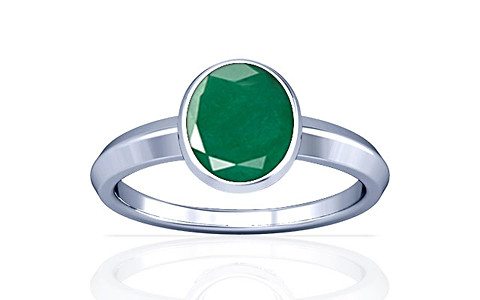 Emerald Silver Ring (A1)
