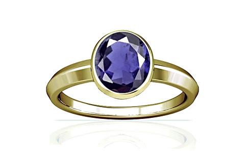 Iolite Panchdhatu Ring (A1)